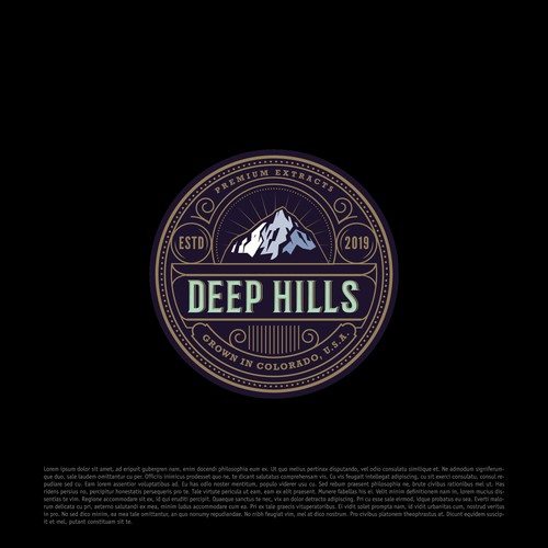 Oil logo with the title 'Deep Hills'