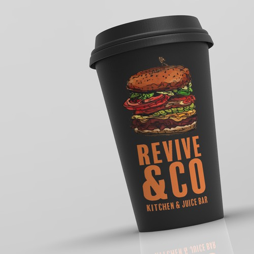Juice bar design with the title 'Revive Kitchen'