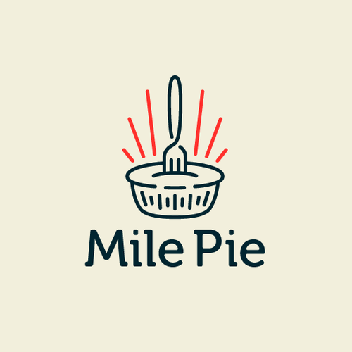 Pie design with the title 'Mile Pie'