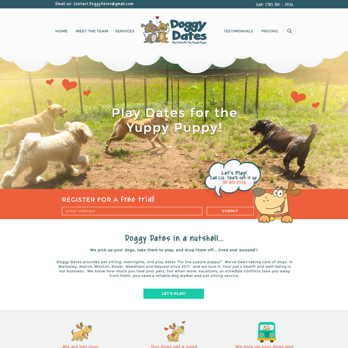 Daycare design with the title 'Dog Daycare'