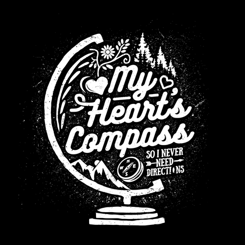 Compass design with the title 'My Hearts Compass'
