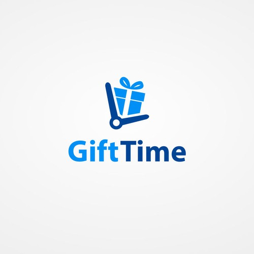 Time logo with the title 'SIMPLE AND MODERN LOGO DESIGN FOR A NEW SOCIAL MEDIA'