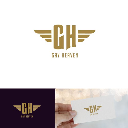 Heaven logo with the title 'Dating App Logo Design'