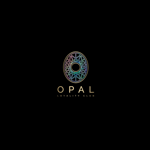 Oval logo with the title 'Luxury design for a card discount'