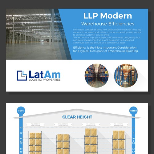 Storage design with the title 'Powerpoint infographic design '