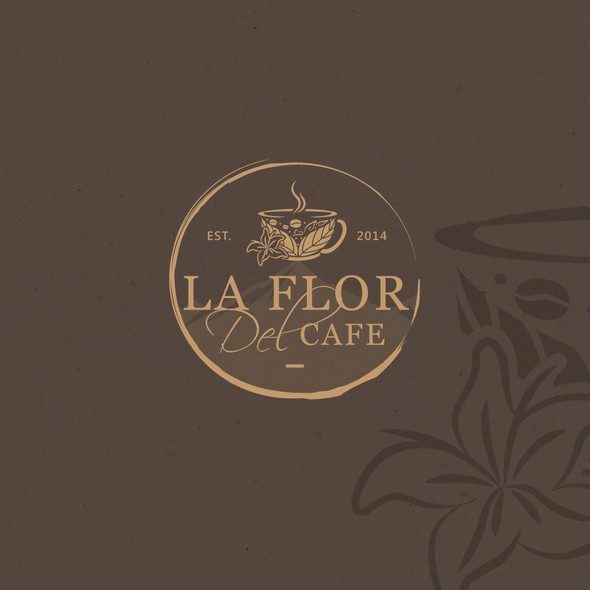 Peruvian logo with the title 'La Flor Del Cafe (The Coffee's Flower)'