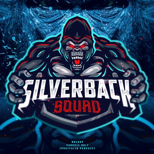 Esports logo with the title 'Silverback Squad'