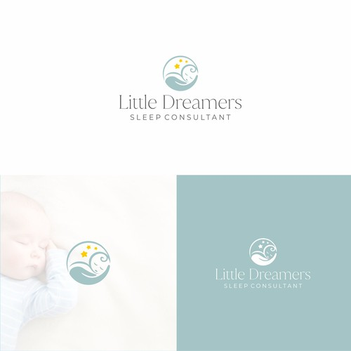 Childcare logo with the title 'Simple cute design'
