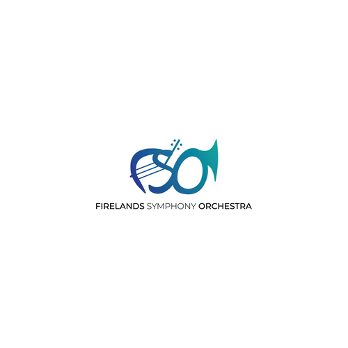 Brass logo with the title 'Symphony Orchestra Logo'