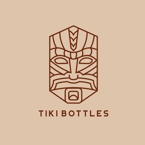 Spiritual design with the title 'TIKI BOTTLES'