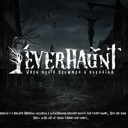 Death logo with the title 'EverHaunt logo.'