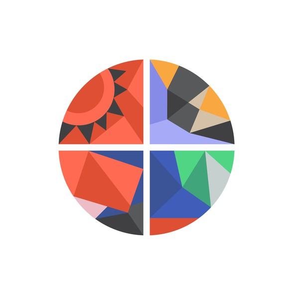 Abstract circle logo with the title 'instagram logo'