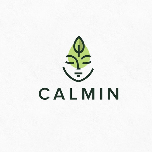 Herbal design with the title 'CALMIN'