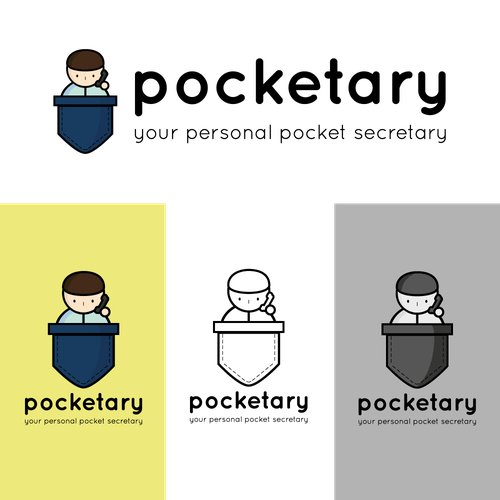 Pocket logo with the title 'Logo for Pocketary'