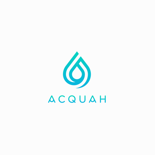 Waterdrop logo with the title 'Creative water drop concept for ACQUAH Logo'