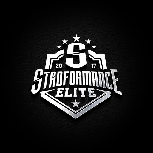 Metallic logo with the title 'STROFORMANCE ELITE'