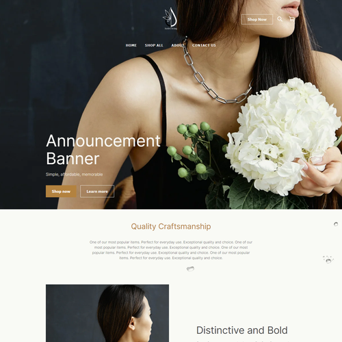 Gift shop design with the title 'BRANDING & SQUARE ONLINE STORE | Design for Hydro Living Well'