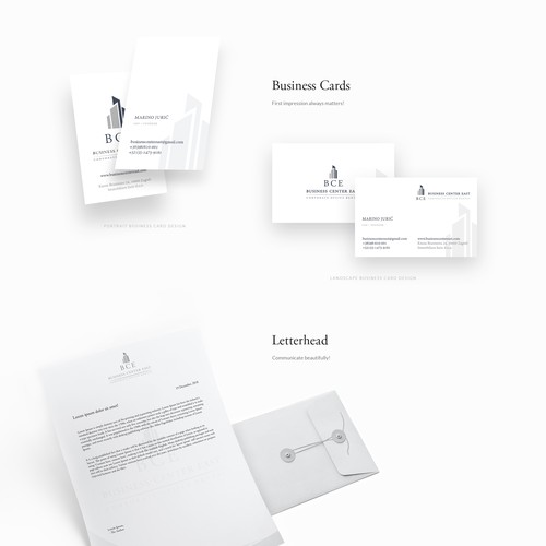 JavaScript design with the title 'Logo, branding, identity and web design for commercial building fund'