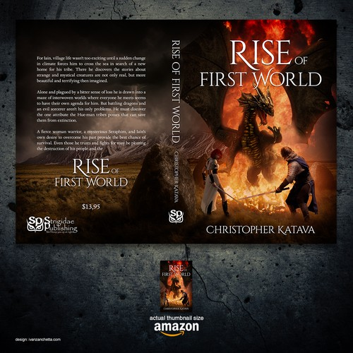 """Dragon book cover with the title 'Book cover for """"Rise of First World""""'"""