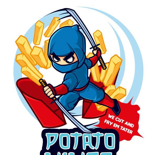 Ninja logo with the title 'potato ninja'