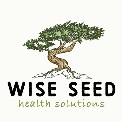 Pine tree design with the title 'Wise seed'