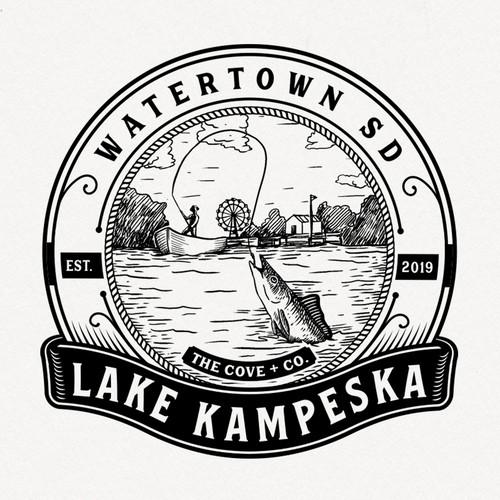 Pond logo with the title 'Lake Kampeska'