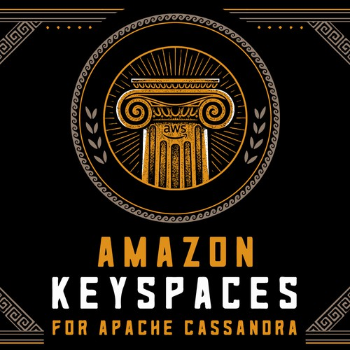 Ancient design with the title 'Amazon Keyspaces'