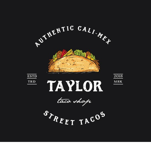 Taco design with the title 'Taylor taco shop'