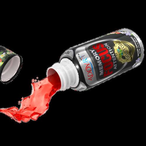 Fluid design with the title 'bottle render'