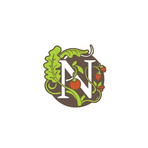Earthy logo with the title 'Art Nouveau Logo Style for Nouveau Raw'