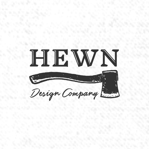 Axe design with the title 'Handcrafted design company Logo'