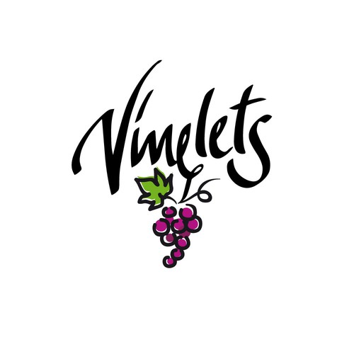 Grape logo with the title 'logo for a wine bottle brand '