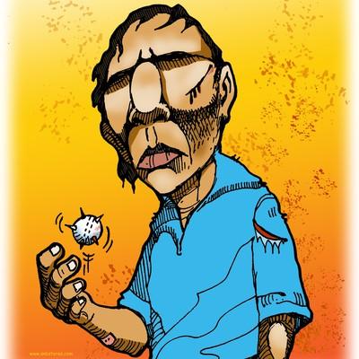 Cricket illustration for t-shirt