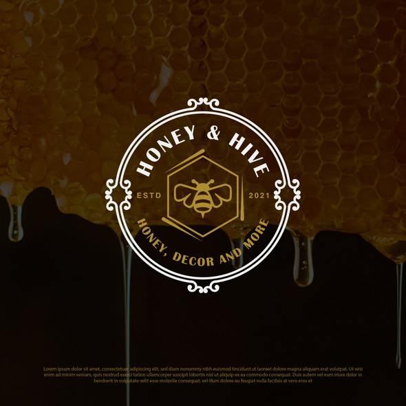 Emblem design with the title 'Logo for a honey manufacturing '
