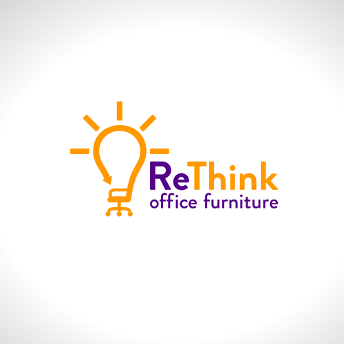Recycling logo with the title 'ReThink logo concept'