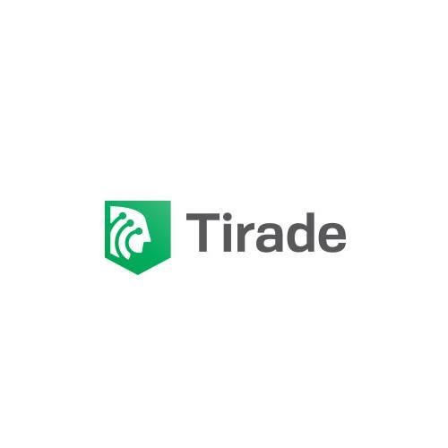 Voice logo with the title 'Tirade logo design'