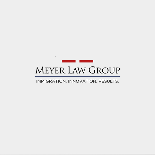 Interesting brand with the title ' Original logo concept for corporate immigration law firm - Meyer Law Group'