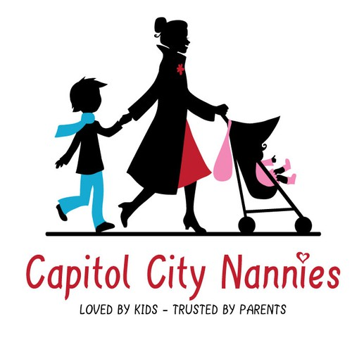 Mom design with the title 'logo for Capitol City Nannies'