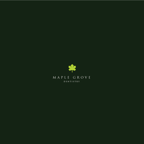 Maple leaf design with the title 'Maple Grove Dentistry logo'