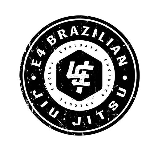 Martial arts logo with the title 'Jiu-jistu monogram logo'