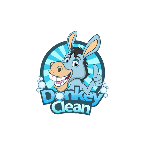 Donkey design with the title 'Donkey Clean'