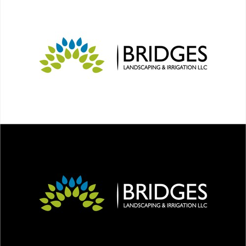 Bridge logo with the title 'logo for Bridges Landscaping and Irrigation LLC'
