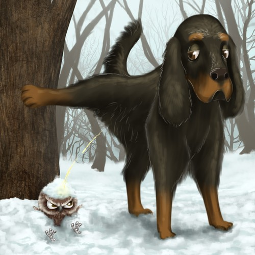 Pet illustration with the title 'Book illustration'