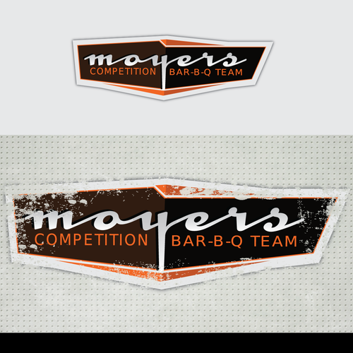 Team design with the title 'Moyers Competition Bar-B-Q Team needs a new logo'
