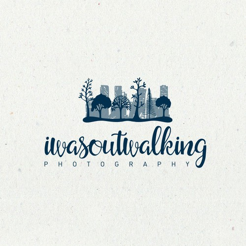 Cityscape design with the title 'Iwasoutwalking photography logo'