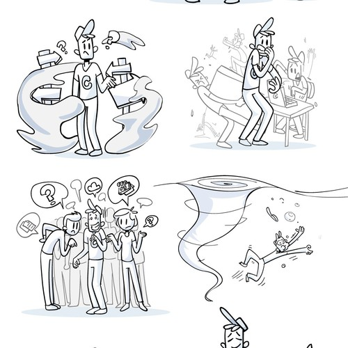 Creative illustration with the title 'Website Illustrations'