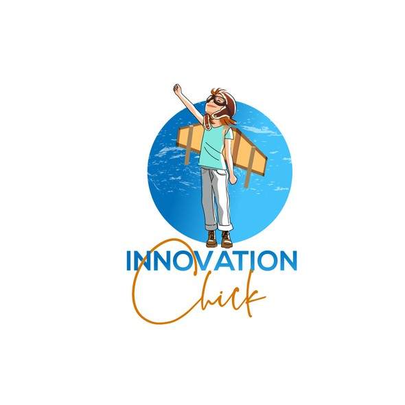 Innovative logo with the title 'Logo for encouraging innovations company.'