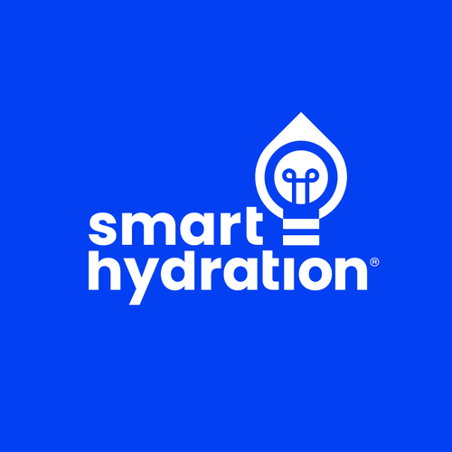 Bright idea logo with the title 'smart hydration'