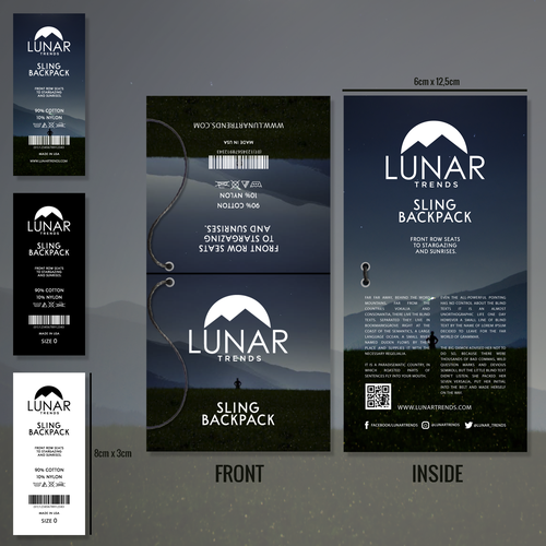 Lunar design with the title 'Lunar Trends Product Branding.'