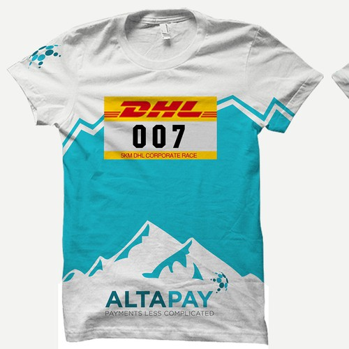 Running t-shirt with the title 'Company T-Shirt for Corporate Run (DHL)'